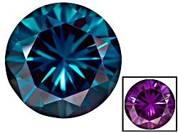 AX005<br>Lab Created Color Change Alexandrite Minimum 6.50ct 12mm Round Diamond Cut