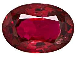 SLV176<br>Burmese Red Spinel Min .50ct 6x4mm Oval