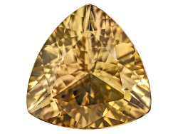 GZT020<br>Untreated Tanzanian Golden Zoisite Min 1.50ct 8x8mm Trillion