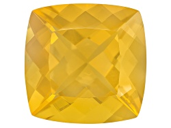 FOC501<br>Colheita Fire Opal(Tm) Canary Color 22.16ct  20.5mm Square Cushion