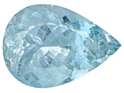 AQP076<br>Tanjaka Aquamarine(Tm) 69.88ct 34.90x24.66x17.22mm Pear Shape Stone Group Lab Rpt/C. Lynch