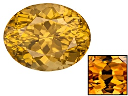 ZNV234<br>Tanzanian Yellow Zircon 6.78ct 11.33x8.93mm Oval Color Varies Caution:heat Sensitive