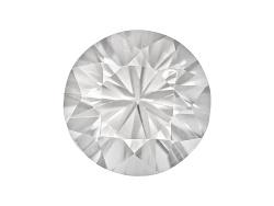ZNR144<br>Tanzanian White Zircon Min 2.00ct 7.5mm Round Diamond Cut