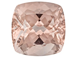MG036<br>Cor-de-rosa Morganite (Tm) Minimum 6.50ct 11.50mm Square Shape Cushion Cut