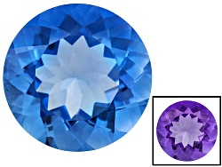 FL100<br>Color Change Blue Fluorite Minimum 16.00ct 16mm Round Mixed Cut