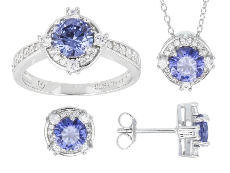 bella luce r tanzanite diamond simulants rhodium over