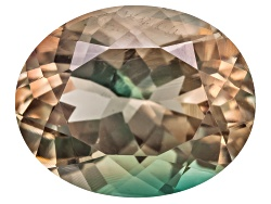 SN166<br>Bi-color Pastel Oregon Sunstone From Butte Mine 2.00ct Minimum 10x8mm Oval Mixed Cut Color
