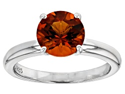 GKTR178<br>1.50ct Avg 8mm Rd Madeira Citrine Ss 8mm Rd Solitaire Ring Casting Kit Free Setting