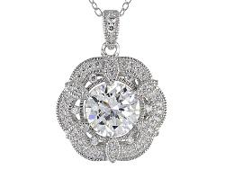 VKB683<br>Vanna K (Tm) For Bella Luce (R) 3.33ctw Diamond Simulant Platineve(Tm) Pendant & Chain (2.