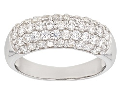 MSN955<br>Moissanite Fire(R) 1.96ctw Diamond Equivalent Weight Round Platineve(Tm) Ring