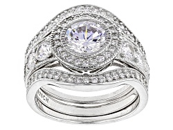 BMC994<br>Bella Luce (R) 3.81ctw Rhodium Over Sterling Silver Ring With Bands (2.34ctw Dew)